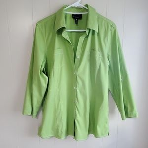 Foxcroft lime green shirt, size 14, nice!!